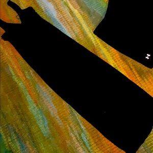 Designhistory maxi dress black braided neckline XS